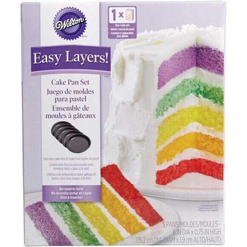 Wilton Wilton Easy Layers! 6 Inch Cake Pan Set