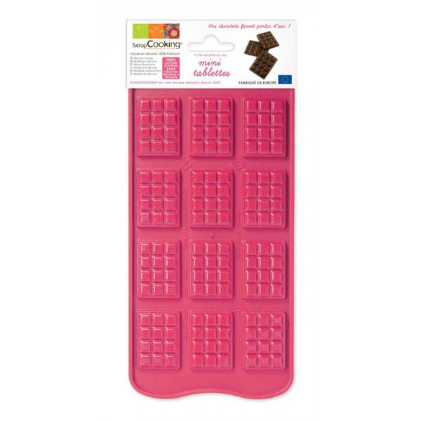 ScrapCooking Mini Chocolate Bars Silicone Mould