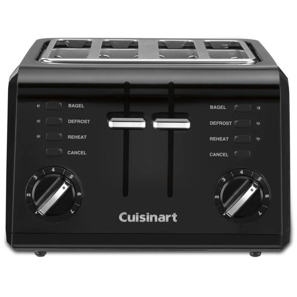 Grille-pain compacte noir 4-tranches de Cuisinart