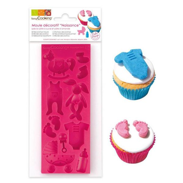 ScrapCooking Birth Silicone Mould for Sugar Paste