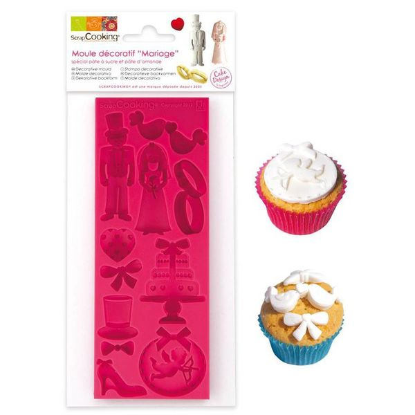 ScrapCooking Wedding Silicone Mould for Sugar Paste