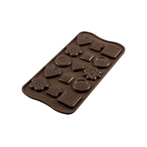 Silikomart Silicone Easy Choc Choco Buttons Chocolate Mould
