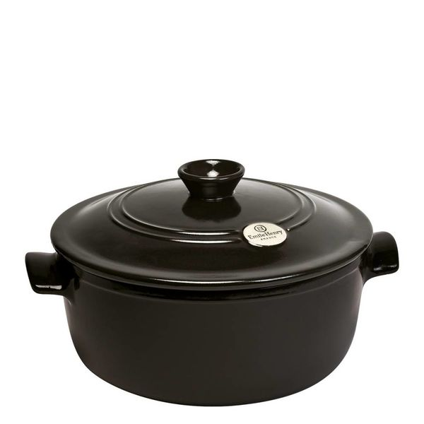 Emile Henry 4L Round Stewpot - Charcoal