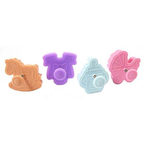 Ensemble d'emporte-pièces à bébé miniature Wondercakes de Silikomart