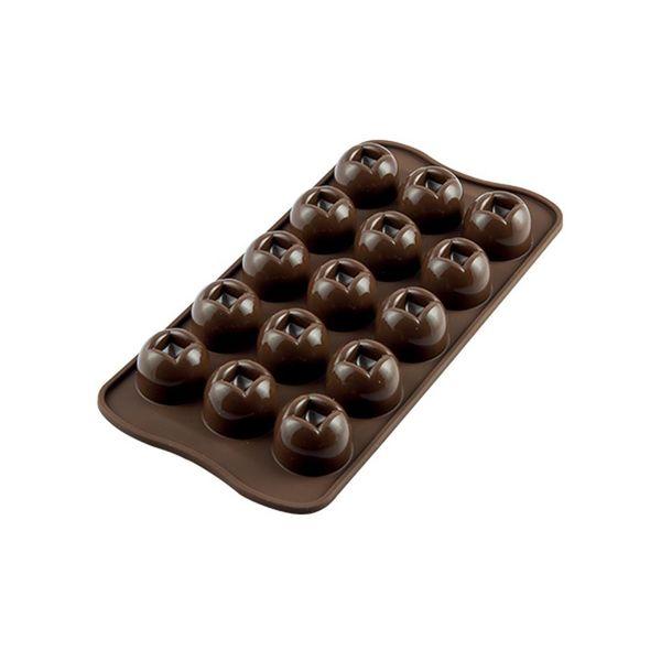 """Moule à chocolat impérial """"Easy Choc"""" en silicone de Silikomart"""