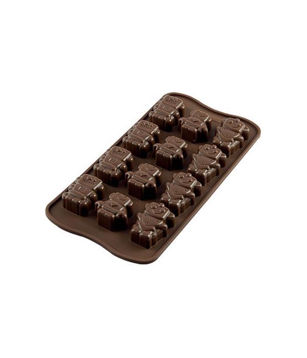 Silikomart Silikomart Silicone Easy Choc Robochoc Chocolate Mould
