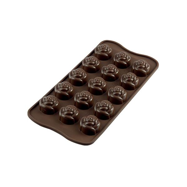 Silikomart Silicone Easy Choc Rose Chocolate Mould