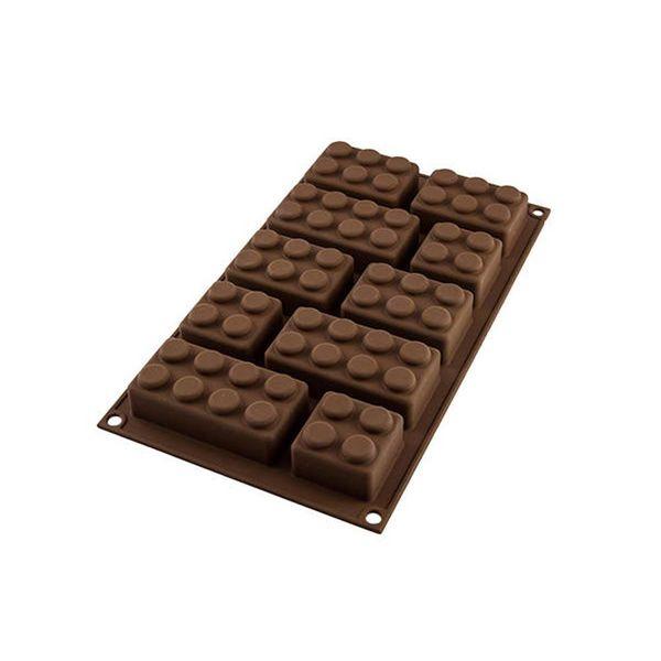 "Moule à chocolat Choco Bloc ""Easy Choc"" en silicone de Silikomart"