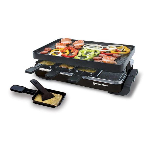 Gril à raclette Classic pour 8 personnes avec une plaque en aluminium antiadhésive réversible de Swissmar
