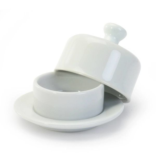 ROUND BUTTER DISH & COV.3.5''