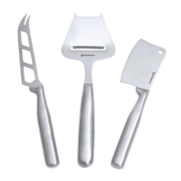 Ensemble Swissmar de 3 couteaux à fromage