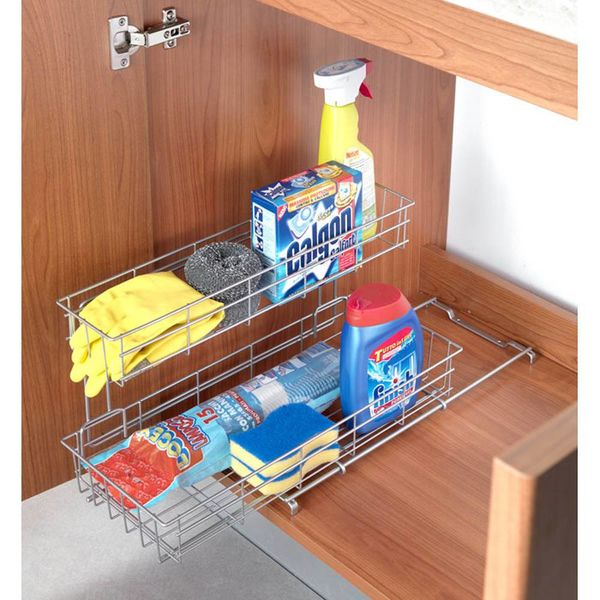 "Metaltex ""Limpio"" Under the Sink Sliding Basket"