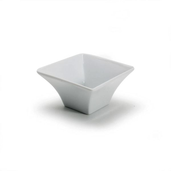 SQUARE FLARE BOWL, 4.5oz, WH