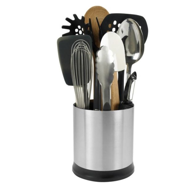 OXO ROTATING UTENSIL HOLDER SS