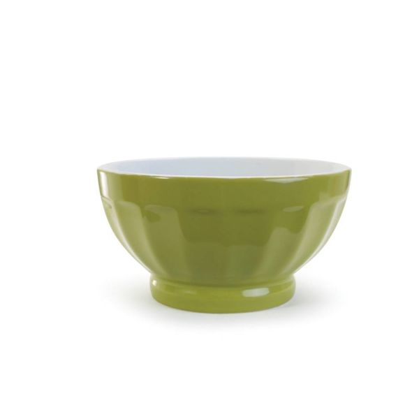 TWO-TONE FLUTED BOWL, 16oz, GR