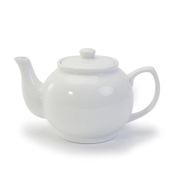 BIA TEAPOT,18.6oz, WHITE PORCE