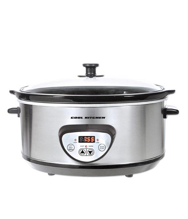 Orly Cuisine Cool Kitchen Pro Stainless Steel Digital Slow Cooker 6,5 L
