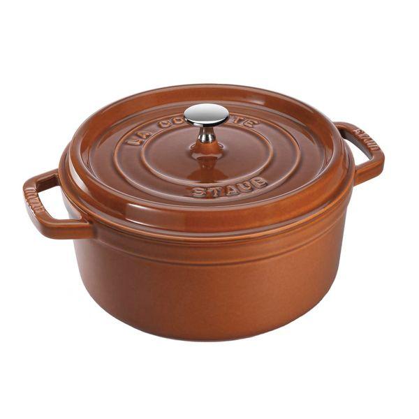 Cocotte ronde Staub 3.8 L / Fonte / Cannelle