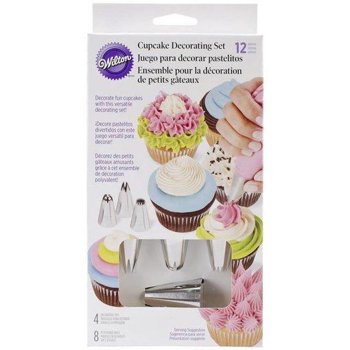 Wilton Ensemble de décoration de cupcakes 12 morceaux de Wilton