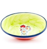 PORTUGAL Portugal Imports Joyful Rooster Oval Serving Dish