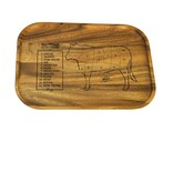 Ironwood Acacia Wood Small Steak Board: Cow