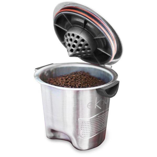 Dosette réutilisable en acier inoxydable compatible K-Cup de Ekobrew