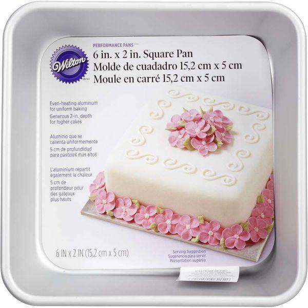 """Moule à gâteau carré """"Performance Pans"""" 15.2cm de Wilton"""