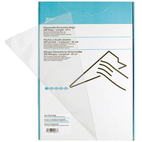 "Ateco 18"" Single Use Icing Bags, Box of 200"