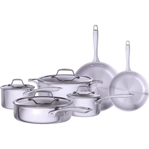 Bialetti Tri-Ply 10 Piece Cookware Set