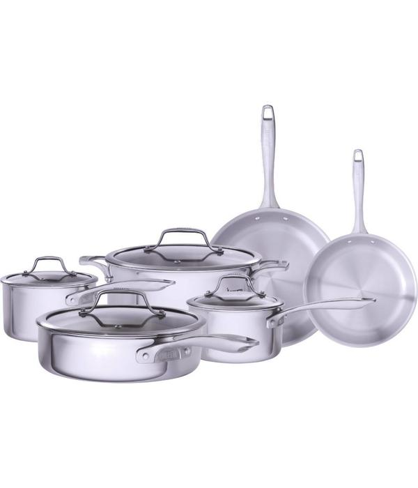 Bialetti Bialetti Tri-Ply 10 Piece Cookware Set