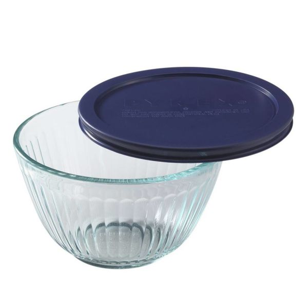 Pyrex Sculpted 3 Cup Mixing Bowl w/ Lid
