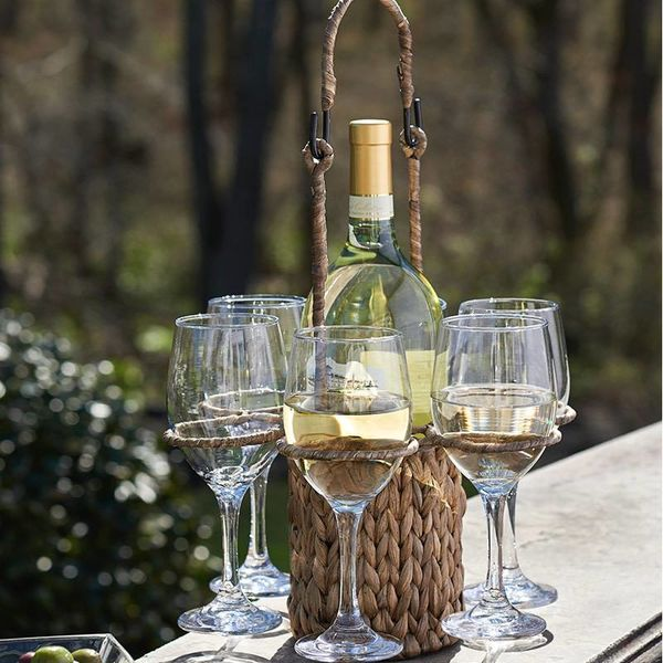GARDEN TERRACE 7pc Wine Caddy Set