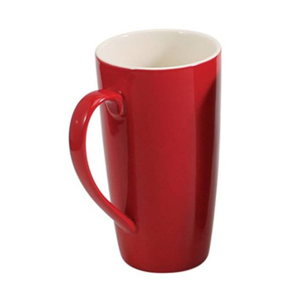 LATTÉ MUG, 17 oz. RED