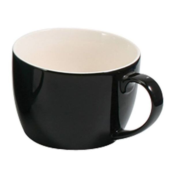CAFE AU LAIT 20 OZ.  BLACK