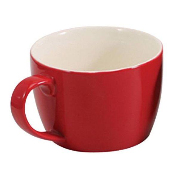 Tasse à café au lait rouge de Danesco