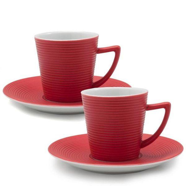 Espresso Cups & Saucers, set of 2, 2oz