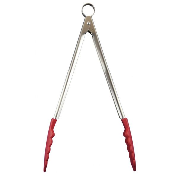 Cuisipro Pinces verrouillables anti-adhésives en silicone - rouge