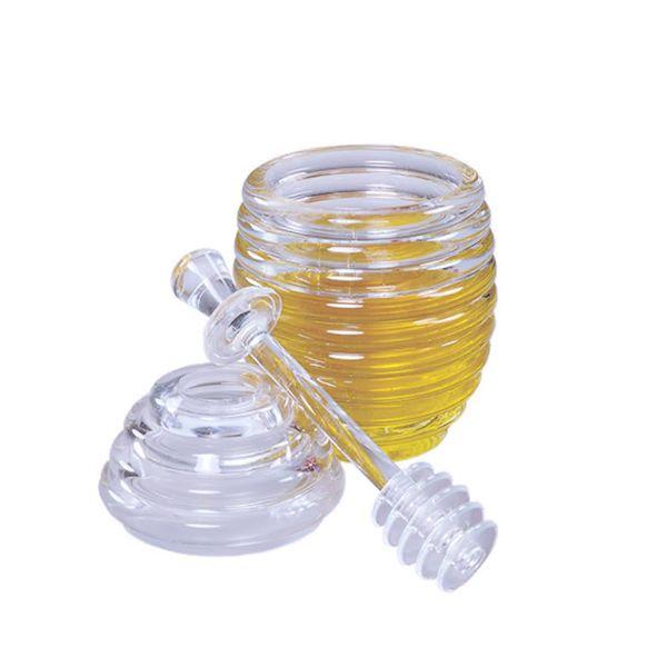 Pot de miel en acrylique avec cuillère de Fox Run