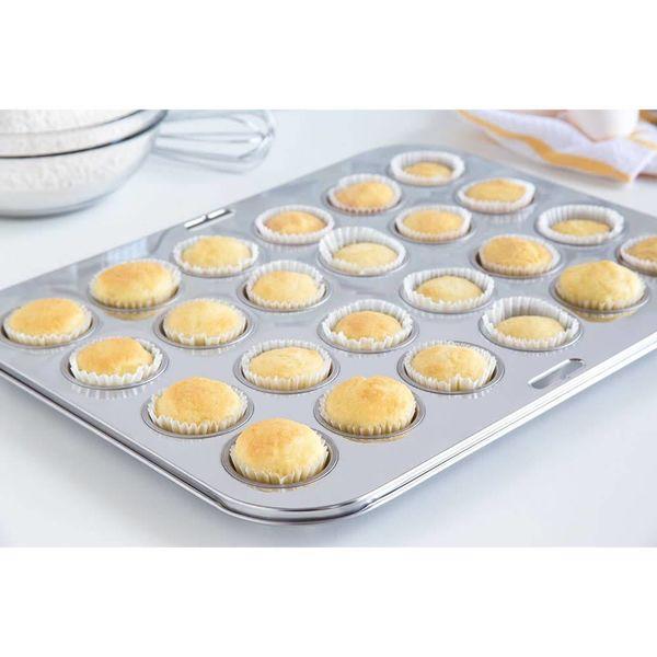 Moule à 24 mini-muffins en acier inox de Fox Run