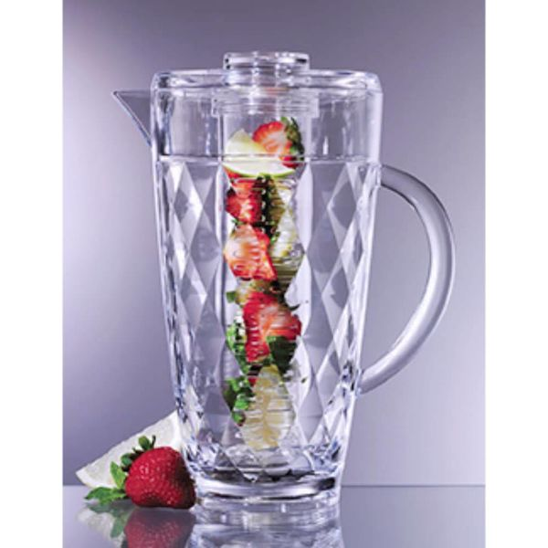 Prodyne 70 Oz. Fruit Infusion Pitcher Diamond Cut