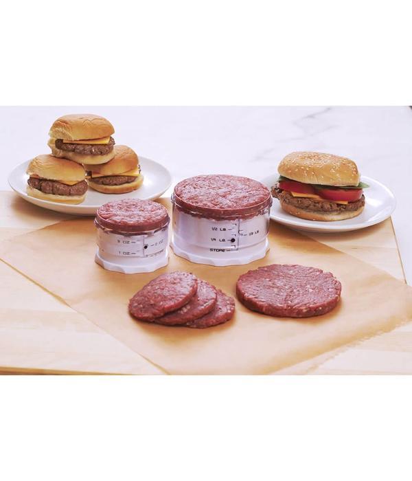 Ensemble de 2 presses-hamburger ajustable de Kitchenart