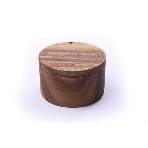 Ironwood Acacia Wood Salt Cellar
