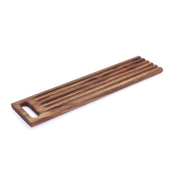 Ironwood Acacia Wood Sweep Off Baguette Board