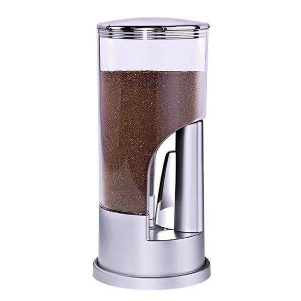 Indispensable Coffee Dispenser 1/2 Lb. Ground Coffee, Silver