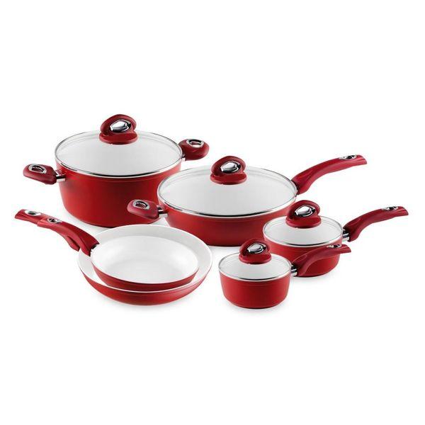 Bialetti Aeternum Red 10 Piece Cookware Set