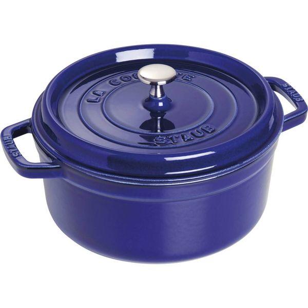 Cocotte ronde Staub 5.5 L / Fonte / Bleu