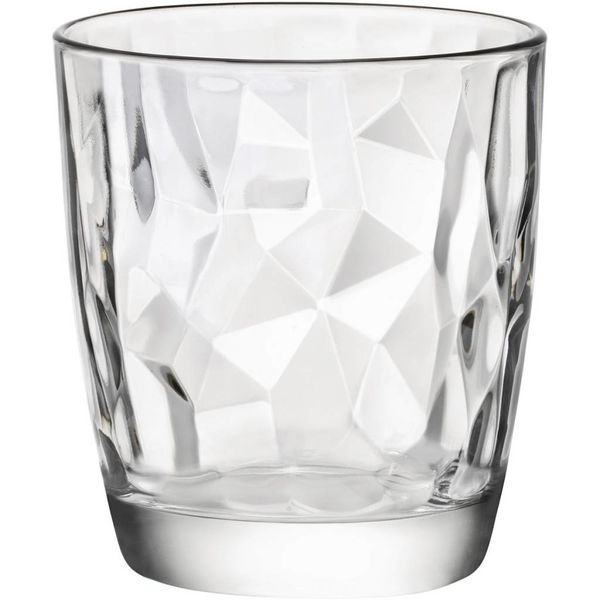 Bormioli Set of 4 Diamond Glasses