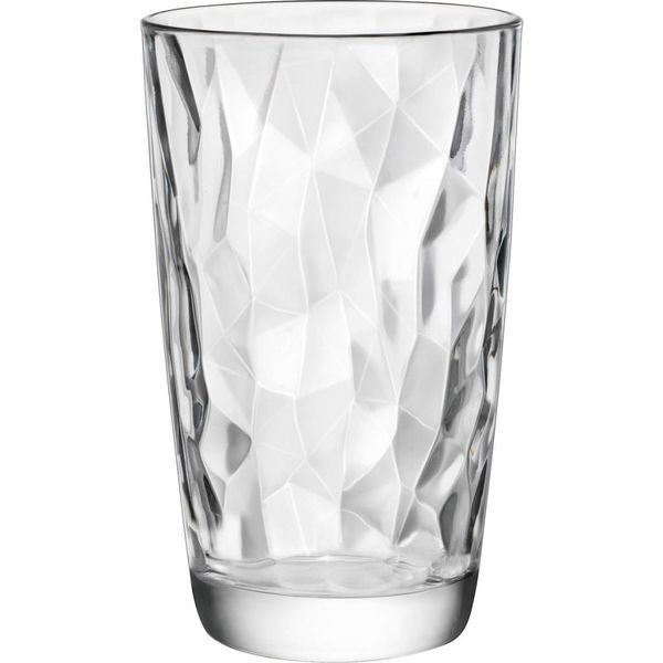 Bormioli Set of 4 Diamond High Ball Glasses