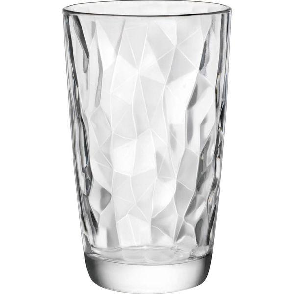 Bormioli Set of 4 Diamond High Ball Glasses