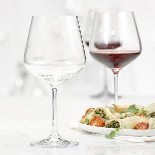 Bohemia Ensemble de 4 verres à vin rouge Splendido de Bohemia - 600 ml